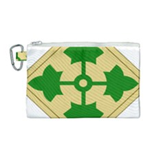 U S  Army 4th Infantry Division Shoulder Sleeve Insignia (1918¨c2015) Canvas Cosmetic Bag (medium)