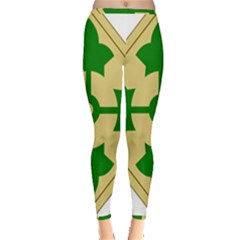U S  Army 4th Infantry Division Shoulder Sleeve Insignia (1918¨c2015) Inside Out Leggings