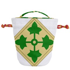 U S  Army 4th Infantry Division Shoulder Sleeve Insignia (1918¨c2015) Drawstring Bucket Bag