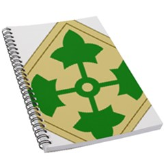 U S  Army 4th Infantry Division Shoulder Sleeve Insignia (1918¨c2015) 5 5  X 8 5  Notebook