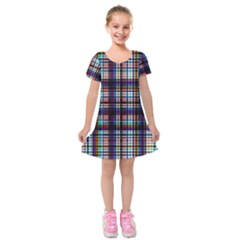 Bold Grid Kids  Short Sleeve Velvet Dress