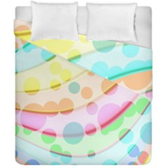 Bubbles On A Rainbow Duvet Cover Double Side (california King Size)