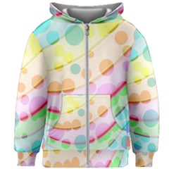 Bubbles On A Rainbow Kids  Zipper Hoodie Without Drawstring
