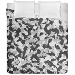 Camouflage In Black And White Duvet Cover Double Side (california King Size)