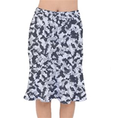 Camouflage In Black And White Mermaid Skirt