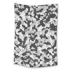 Camouflage In Black And White Large Tapestry
