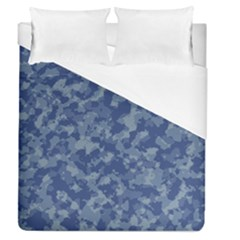 Camouflage In Blue Duvet Cover (queen Size) by FEMCreations