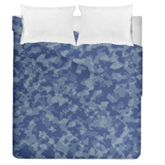 Camouflage In Blue Duvet Cover Double Side (queen Size)