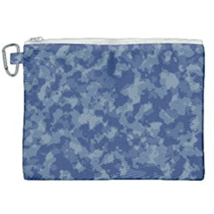 Camouflage In Blue Canvas Cosmetic Bag (xxl) by TimelessFashion