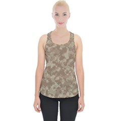Camouflage In Brown Piece Up Tank Top