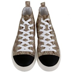 Camouflage In Brown Men s Mid Top Canvas Sneakers