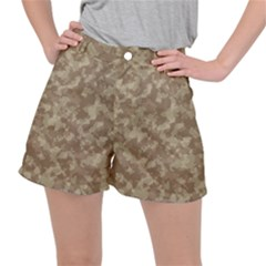 Camouflage In Brown Stretch Ripstop Shorts