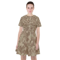 Camouflage In Brown Sailor Dress