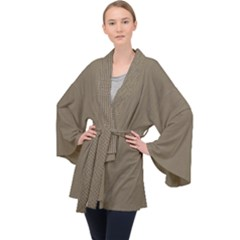 Canvas Style Velvet Kimono Robe by TimelessFashion