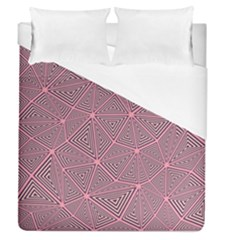 Chaos Of Triangles In Pink Duvet Cover (queen Size) by TimelessDesigns