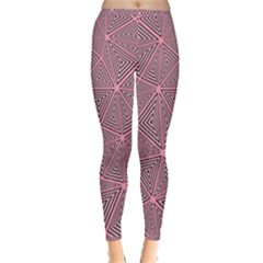 Chaos Of Triangles In Pink Inside Out Leggings