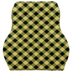 Checkers 1 Car Seat Velour Cushion  by FEMCreations