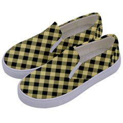 Checkers 1 Kids  Canvas Slip Ons by FEMCreations