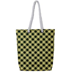 Checkers 1 Full Print Rope Handle Tote (small)
