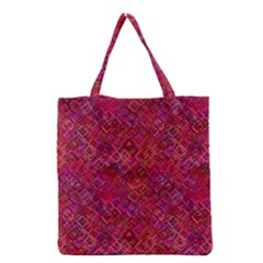 Cherry Squares Grocery Tote Bag