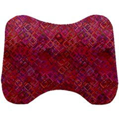 Cherry Squares Head Support Cushion
