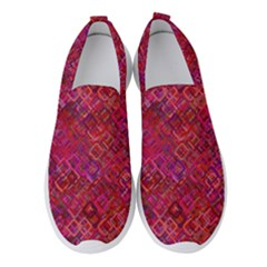 Cherry Squares Women s Slip On Sneakers by TimelessFashion