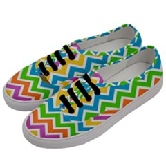 Chevron Of The Rainbow Men s Classic Low Top Sneakers by FEMCreations