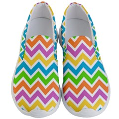 Chevron Of The Rainbow Men s Lightweight Slip Ons by FEMCreations