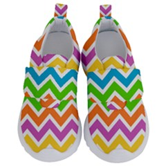 Chevron Of The Rainbow Kids  Velcro No Lace Shoes by TimelessFashion