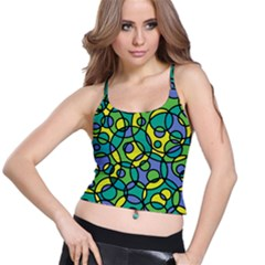 Circling Time 1 Spaghetti Strap Bra Top by TimelessFashion