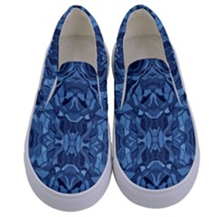 Abstract #8   I   Blues 6000 Kids  Canvas Slip Ons
