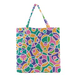 Circling Time 3 Grocery Tote Bag by TimelessFashion