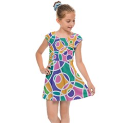 Circling Time 3 Kids  Cap Sleeve Dress by TimelessFashion
