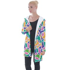 Circling Time 3 Longline Hooded Cardigan by FEMCreations