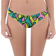 Circling Time 2 Reversible Hipster Bikini Bottoms by TimelessFashion