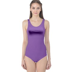All Purple One Piece Swimsuit