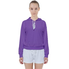 All Purple Women s Tie Up Sweat by TimelessFashion