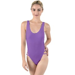 All Purple High Leg Strappy Swimsuit by FEMCreations