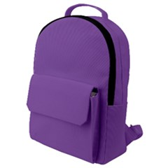 All Purple Flap Pocket Backpack (small)