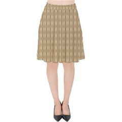 Brown Effect Velvet High Waist Skirt