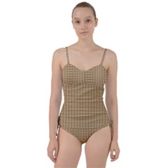 Brown Effect Sweetheart Tankini Set by TimelessFashion