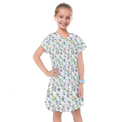 Classic Flowers Kids  Drop Waist Dress