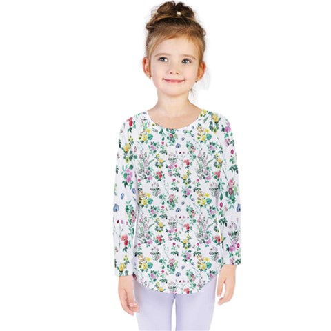 Classic Flowers Kids  Long Sleeve Tee by TimelessFashion