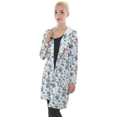 Classic Flowers Hooded Pocket Cardigan by TimelessFashion
