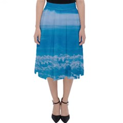 Cloudy Sky Classic Midi Skirt by TimelessFashion