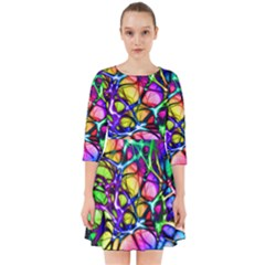 Color Network Smock Dress by TimelessFashion