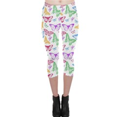 Colorfull Butterflies Capri Leggings