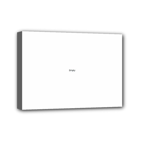 Polka Space Background Mini Canvas 7  X 5  (stretched)
