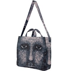 Foam Man Photo Manipulation Poster Square Shoulder Tote Bag by dflcprintsclothing