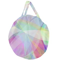 Colorfull Curves Giant Round Zipper Tote
